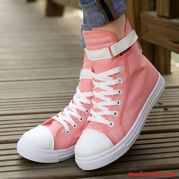 découvrir les dernières tendances chaussures d'automne comment trouver Basket Montante Toile Femme Beige Sable Beige Sable Mc26373