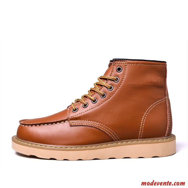 Chaussure Blanche Jaune Homme Mc24305 Ville Crème De kPwOn0