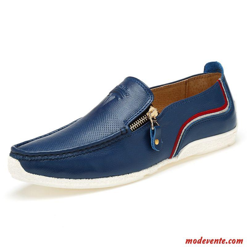 1d2b4adb6eb9a9 Chaussure De Ville Homme Confortable Bleu Marin Turquoise Mc24073