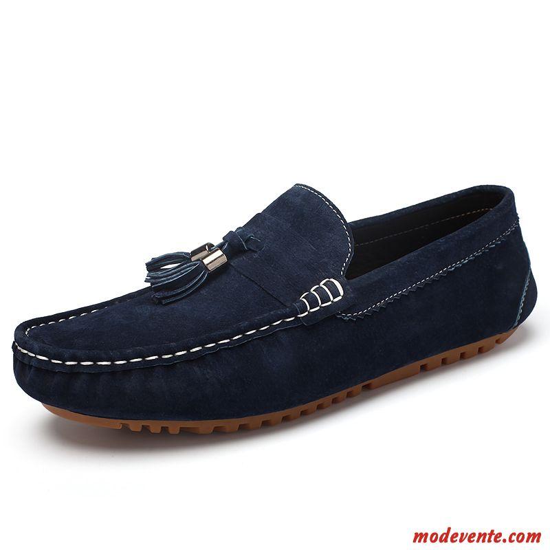 39a537cfbc6408 Chaussure De Ville Homme Cuir Bleu Violet Gris Brumeux Mc23840