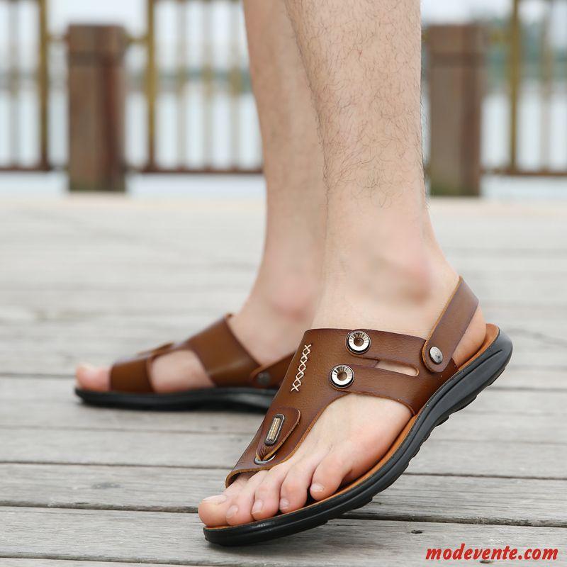 en vente en ligne large sélection moins cher Chaussure Sandales Homme Pas Cher Bleu Aigue-marine Marron ...
