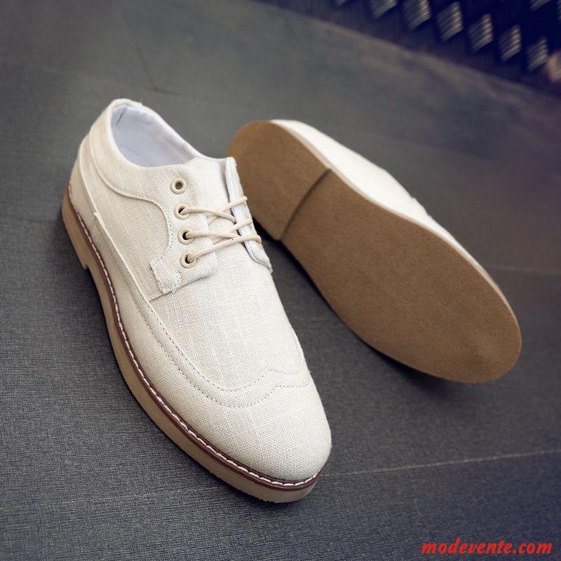 8d2b3d46551 Chaussure Ville Homme Marron Pas Cher Seashell Blanc Neigeux Mc24503