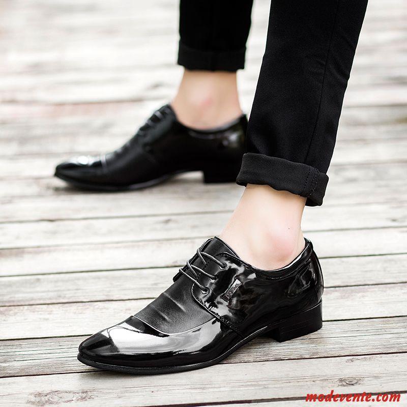 c8aeef17fe44d Chaussures De Ville Homme Cuir Tout Noir Gris Fumé Mc23950