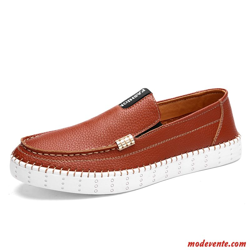 Mocassin Homme Style College Seagreen Saumon Mc22549